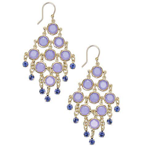 Kate Spade Chandelier Earrings Lyst Kate Spade New York Goldtone Purple Chandelier Earrings In Purple