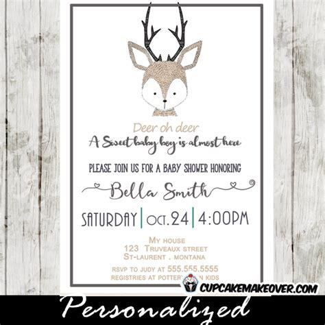 Baby Shower Deer Theme by Deer Baby Shower Invitation