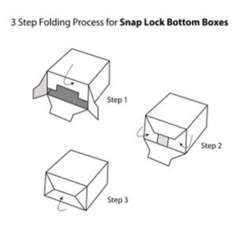 Tuck Top Snap Bottom Box 1 2 3 Bottom Paper Box Auto Lock Bottom Box Template