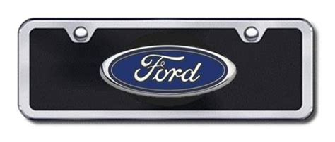 Ford Vanity Plates by Ford Logo License Plates Vanity Logo Tags Half Size Black License Plates Half Size Logo