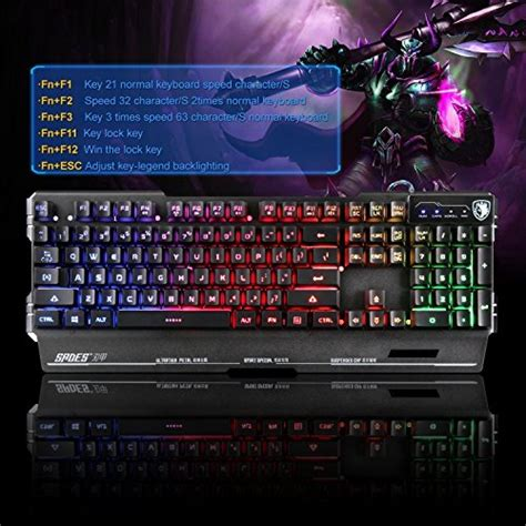 Keyboard Gamers Sades Blademail yanni sades blademail k8 wired computer usb gaming keyboards import it all