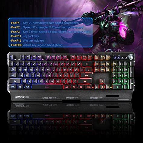 Keyboard Gaming Sades Blademail Metal yanni sades blademail k8 wired computer usb gaming