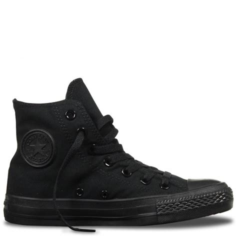 Converse All Black Unisex converse converse ct all hi black mono f8 m3310