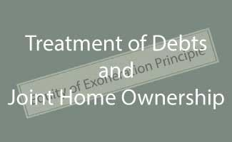 joint ownership of house with parents treatment of business debts where home is jointly owned with spouse