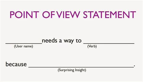 design statement definition design thinking the define stage and the point of view