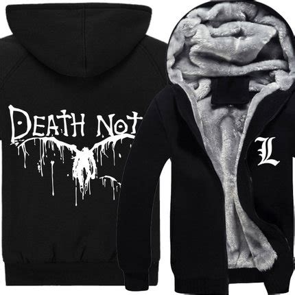 Note Jacket Jaket Hoodie L Deathnote Anime popular note clothing buy cheap note clothing