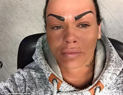 tattooed on eyebrows mandy lamrini bullied on tattooed eyebrows