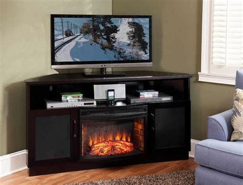 1000 ideas about corner fireplace tv stand on