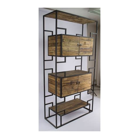 Etagere Industrielle Bois Metal 1185 by Biblioth 232 Que Industrielle 233 Tag 232 Re Industrielle M 233 Tal Et