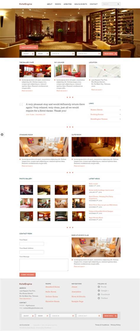 themes hotel wordpress hotelengine comfy review enginethemes must read