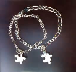 pulseras y cadenas para parejas par de pulsera tu y yo dijes de rompecabezas pareja plata