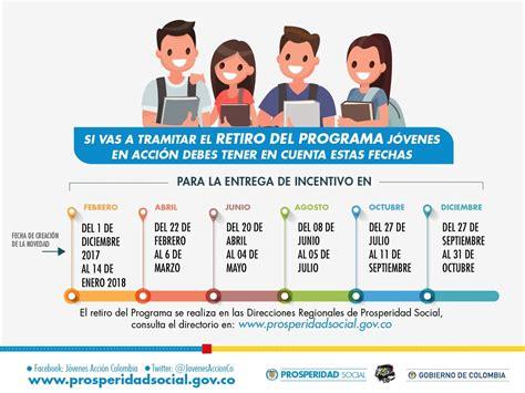 consulta las fechas de pago incentivos a programa ms consulta de pagos jovenes en accion colombia j 243 venes en
