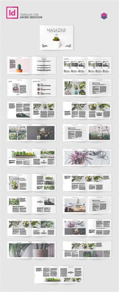 indesign layout landscape multipurpose landscape magazine adobe indesign template