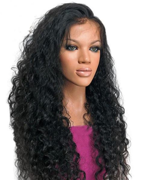 brazilian virgin human hair wigs for black women deep wave lace brazilian virgin hair wavy full lace human hair wigs for