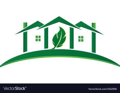 Green House Ecology Concept Logo Royalty Free Vector Image Green Concept Logo Vectors