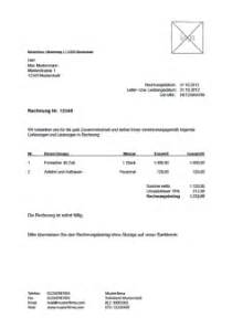 Muster Rechnung Honorar Rechnungsvorlage Musterrechnung Kostenlos Lexoffice