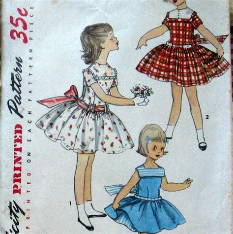 vintage pattern girl 1950s vintage girls dress pattern with petticoat and