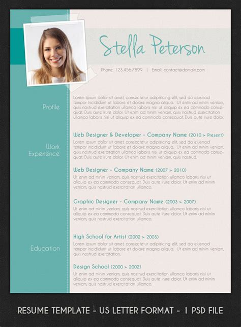 layout of a modern cv 8 premium resume templates for 18