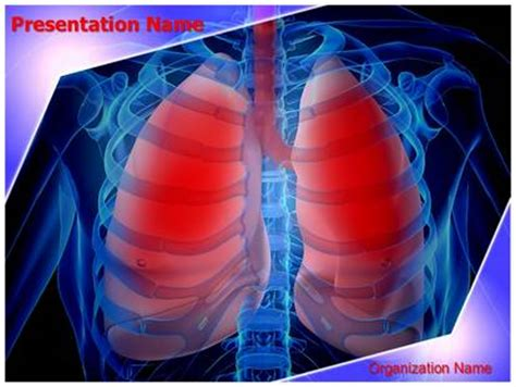 powerpoint themes lungs infected lungs powerpoint template background