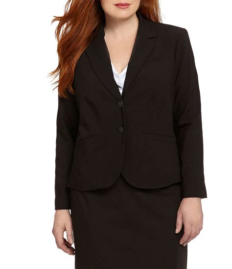 Two Botton Big Size Plus Size Calvin Klein Plus 2 Button Suit Jacket Dillards