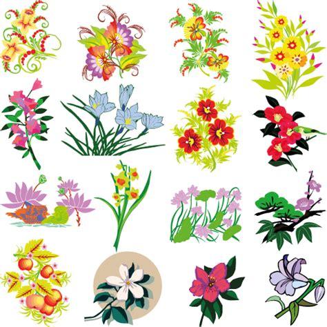 imagenes variadas gratis flores variadas vector vector clipart