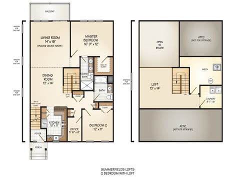 2 Bedroom House Plans With Loft Escortsea