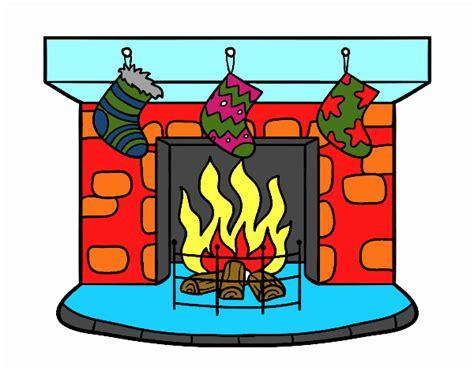 chimenea de navidad dibujo de chimenea de navidad pintado por en dibujos net