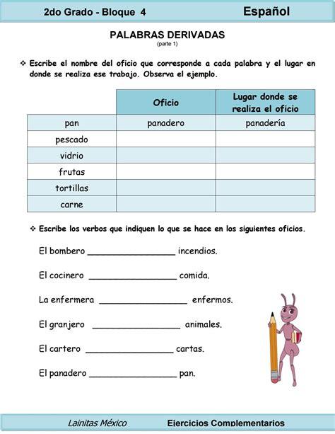 issuu ii parte experiencias y propuestas de share the knownledge 2do grado espa 241 ol palabras derivadas by guadalupe 0rtiz