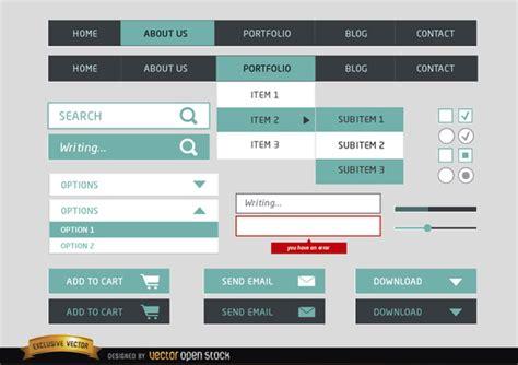 design menustrip c web design menu simple elements free vector free vectors