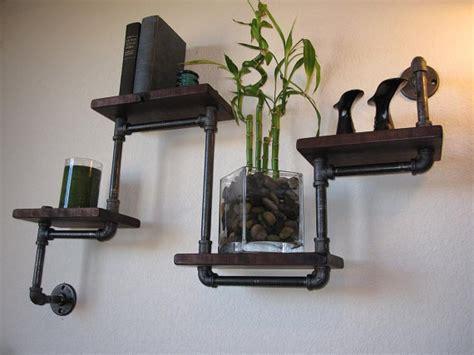 Plumbing Shelf by Plumbing Pipe Shelves And Hangers Diy For