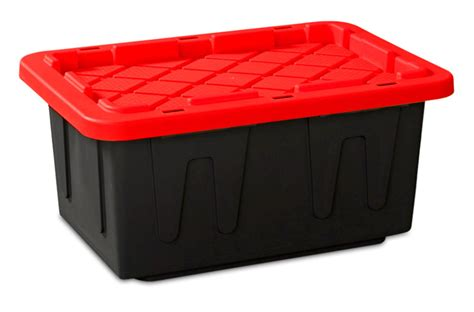 poly storage containers heavy duty 15gallon large 26x18x12 industrial plastic