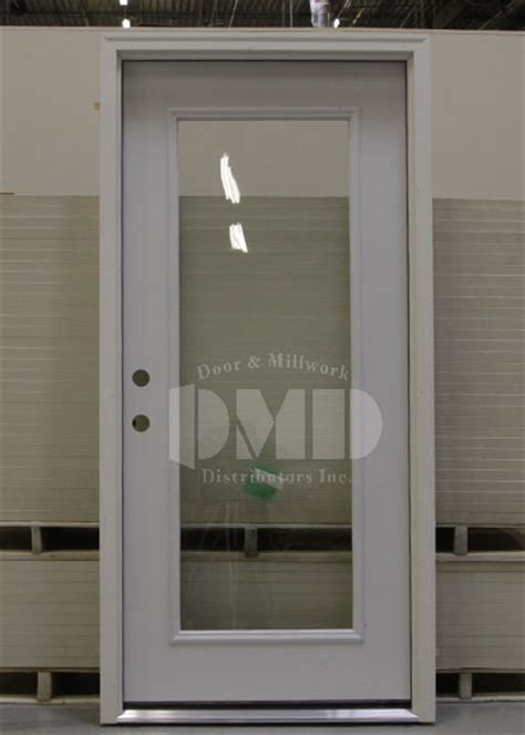 Exterior Steel Door With Window 1 Lite Clear Glass Steel Exterior Door 6 8 Door And Millwork Distributors Inc Chicago