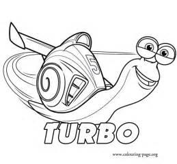 turbo turbo coloring page - Turbo Coloring Pages