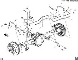 Brake Line Diagram For 2002 Avalanche 2002 Chevrolet Avalanche Brake Lines Rear