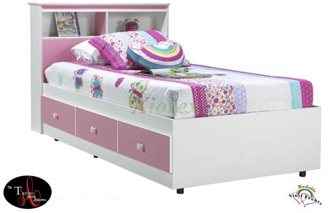 twin storage bed with headboard twin storage bed with bookcase headboard bobsrugby com