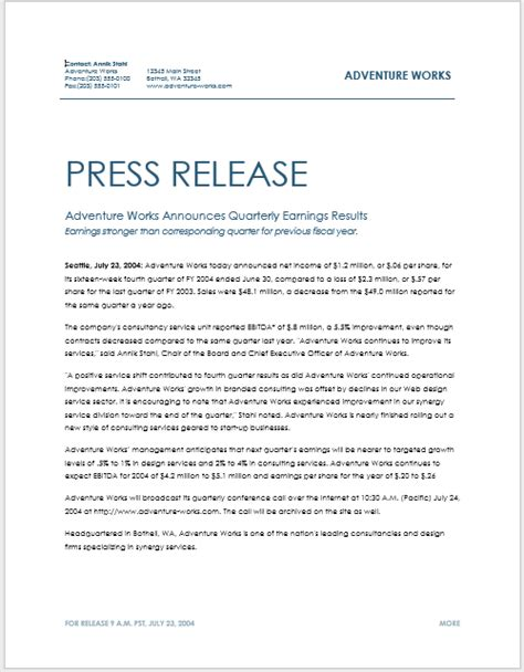 press release templates press release template 15 free sles ms word docs