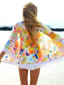 colorful kimono sweater colorful kimono cardigan top swimwear bright