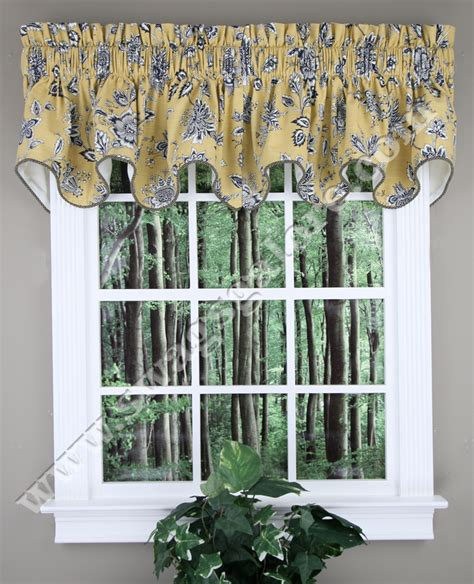 Yellow Kitchen Curtains Valances Jeanette Lined Duchess Filler Valance Yellow Ellis Curtains Kitchen Valances