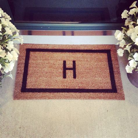 Initial Doormat by Doormat Welcome Mat Personalized Custom Initial Monogram