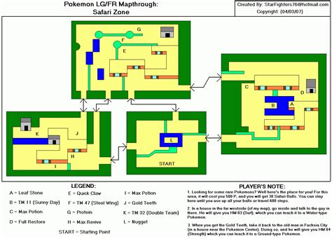 layout of safari zone in fire red index of kip s files other vba pokemon games fire red maps