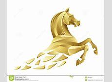 Golden horse stock vector. Image of equine, animal, jump ... Mustang Head Logo