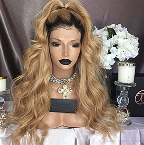 Honey Blonde Lace Front Wig Glueless Full Lace Wigs Human