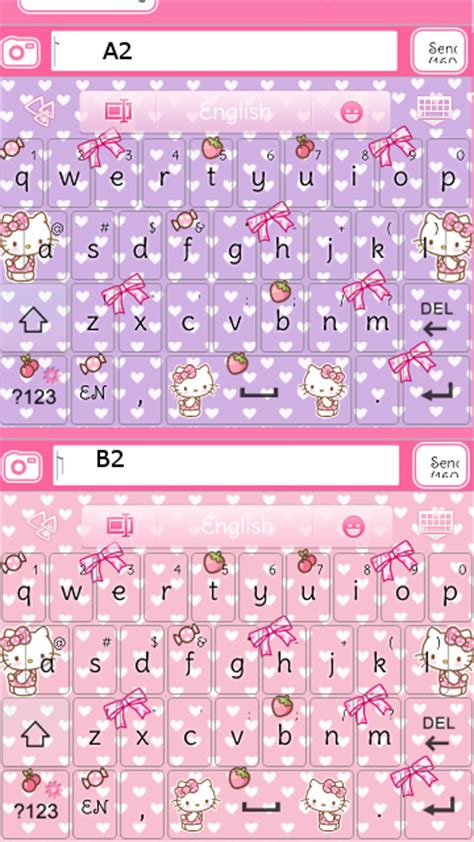 themes go keyboard hello kitty hello kitty strawberry go keyboard skins android themes