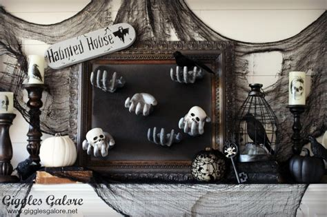 haunted mansion home decor diy creepy halloween hand picture frame giggles galore