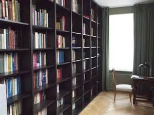 ikea hackers floor to ceiling billy bookshelves for