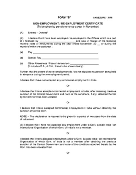 Non Employment Letter Format non employment certificate fill printable