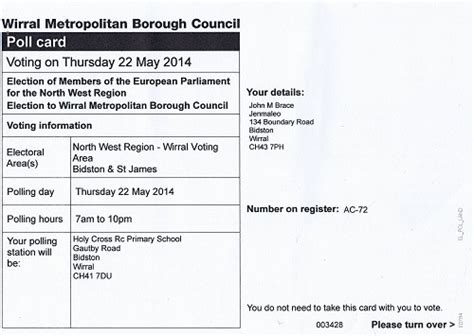 poll card template polling card wirral council elections 20141 jpg new