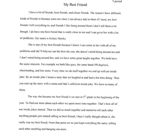 My Best Friend Essay In 200 Words by Write A Essay On My Best Friend
