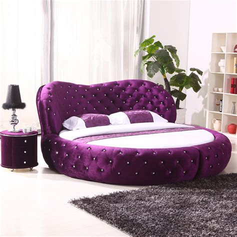 round bed white purple cheap king size hot sell round beds for sale