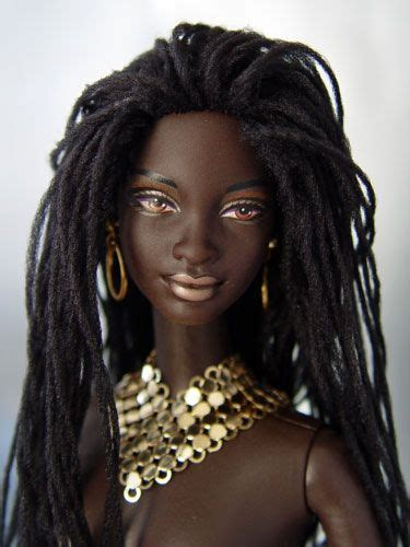 how to dread african american hair african american barbie sized doll with dreadlocks http
